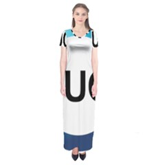 Logo Of International Union For Conservation Of Nature Short Sleeve Maxi Dress