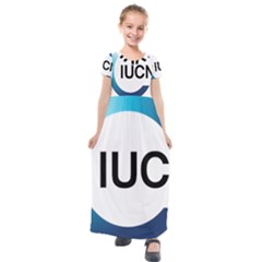 Logo Of International Union For Conservation Of Nature Kids  Short Sleeve Maxi Dress by abbeyz71