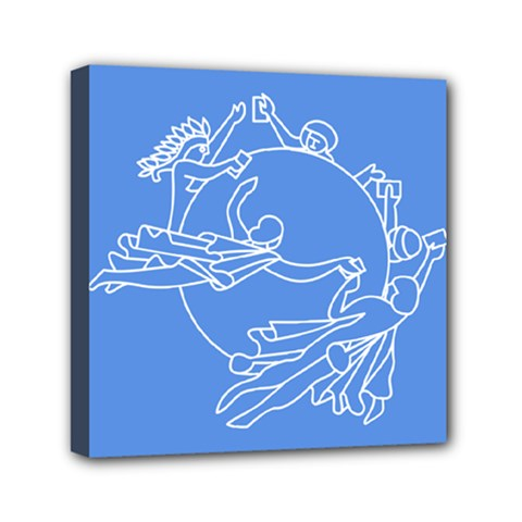Flag Of Universal Postal Union Mini Canvas 6  X 6  (stretched)
