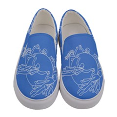 Flag Of Universal Postal Union Women s Canvas Slip Ons