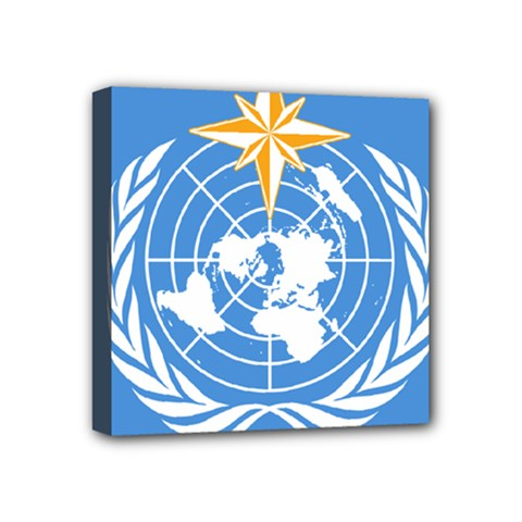Flag Of World Meteorological Organization Mini Canvas 4  X 4  (stretched) by abbeyz71
