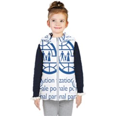 Logo Of International Organization For Migration Kids  Hooded Puffer Vest by abbeyz71