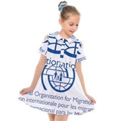 Logo Of International Organization For Migration Kids  Short Sleeve Shirt Dress