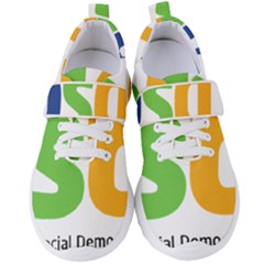 Logo Of Brazil Social Democratic Party Women s Velcro Strap Shoes