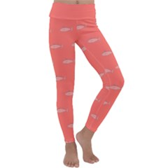 Its Fishy Kids  Lightweight Velour Classic Yoga Leggings by TimelessFashion