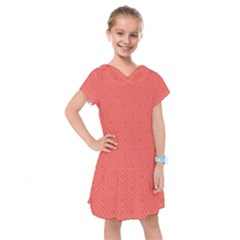 Simple Squares Kids  Drop Waist Dress
