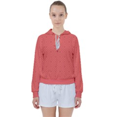 Simple Squares Women s Tie Up Sweat