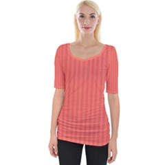 Simple Stripes Wide Neckline Tee by TimelessFashion