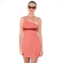 Simple Stripes One Soulder Bodycon Dress