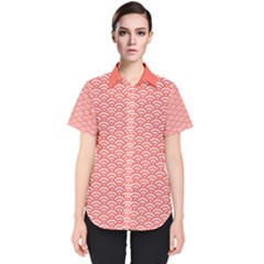 Circly Waves Women s Short Sleeve Shirt by TimelessFashion