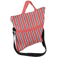 Classic Stripes Fold Over Handle Tote Bag by TimelessFashion