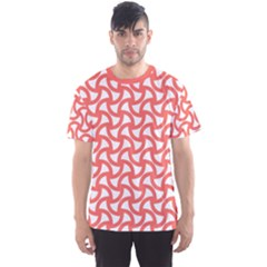 Odd Shaped Grid Men s Sports Mesh Tee by TimelessFashion