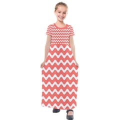 Waves Kids  Short Sleeve Maxi Dress by TimelessFashion