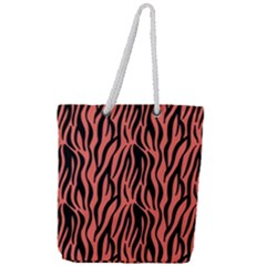 Zebra Style Full Print Rope Handle Tote (large)