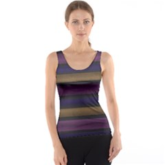 Stripes Pink Yellow Purple Grey Tank Top by BrightVibesDesign