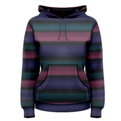 Stripes Pink Purple Teal Grey Women s Pullover Hoodie