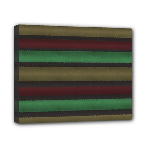 Stripes Green Red Yellow Grey Canvas 10  X 8  (stretched)