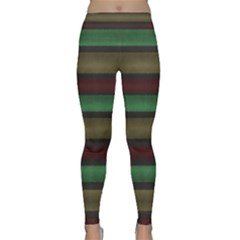 Stripes Green Red Yellow Grey Classic Yoga Leggings