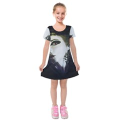 The Fortune Teller Kids  Short Sleeve Velvet Dress