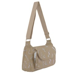 Almond Buff Scribbles Post Office Delivery Bag by TimelessFashion