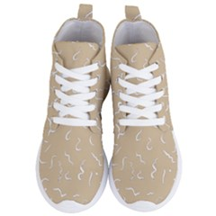 Almond Buff Scribbles Women s Lightweight High Top Sneakers
