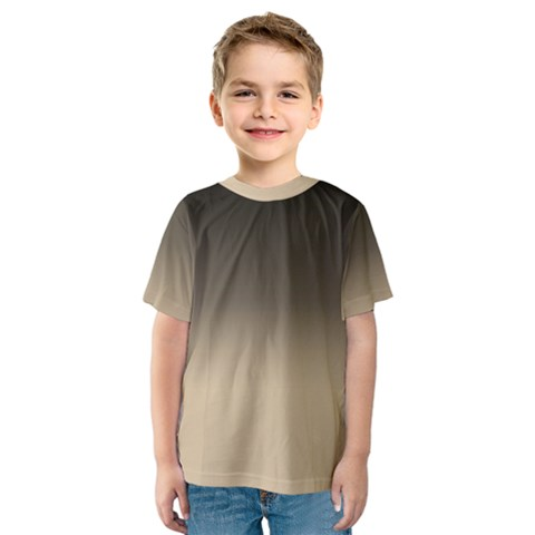 Almond Buff To Black Kids  Sport Mesh Tee by TimelessFashion