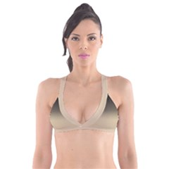 Almond Buff To Black Plunge Bikini Top