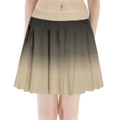 Almond Buff To Black Pleated Mini Skirt by TimelessFashion