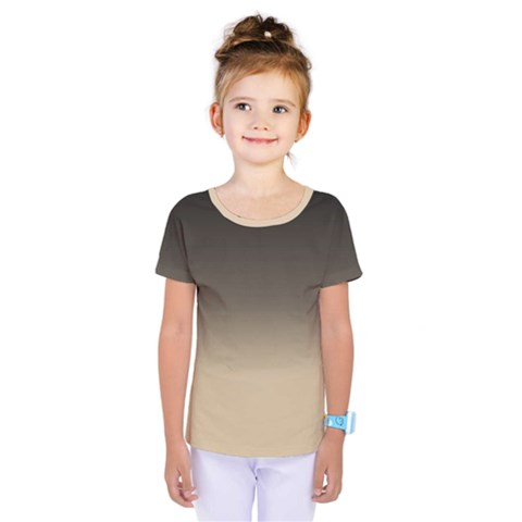 Almond Buff To Black Kids  One Piece Tee by TimelessFashion