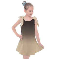 Almond Buff To Black Kids  Tie Up Tunic Dress by TimelessFashion
