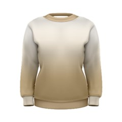 Almond Buff To White  Women s Sweatshirt
