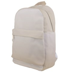 Almond Buff To White  Classic Backpack by TimelessFashion