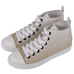 Almond Buff To White  Women s Mid Top Canvas Sneakers by TimelessFashion