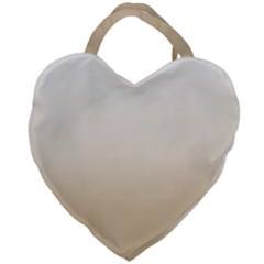 Almond Buff To White  Giant Heart Shaped Tote by TimelessFashion