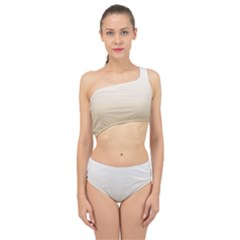 Almond Buff To White  Spliced Up Two Piece Swimsuit by TimelessFashion