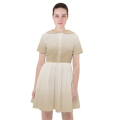 Almond Buff To White  Sailor Dress