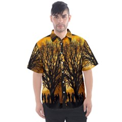 Met By Moonlight Men s Short Sleeve Shirt