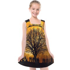 Met By Moonlight Kids  Cross Back Dress by WensdaiAddamns