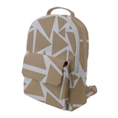 Almond Buff Triangles Flap Pocket Backpack (large) by TimelessFashion