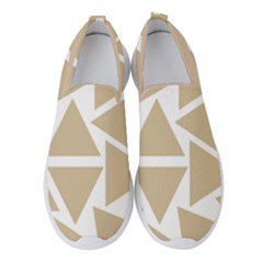 Almond Buff Triangles Women s Slip On Sneakers by TimelessFashion