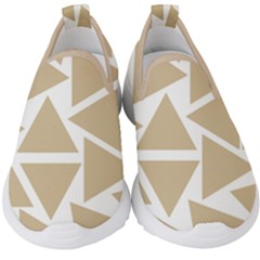 Almond Buff Triangles Kids  Slip On Sneakers by TimelessFashion