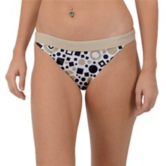 Black Versus Almond Buff Band Bikini Bottom by TimelessFashion