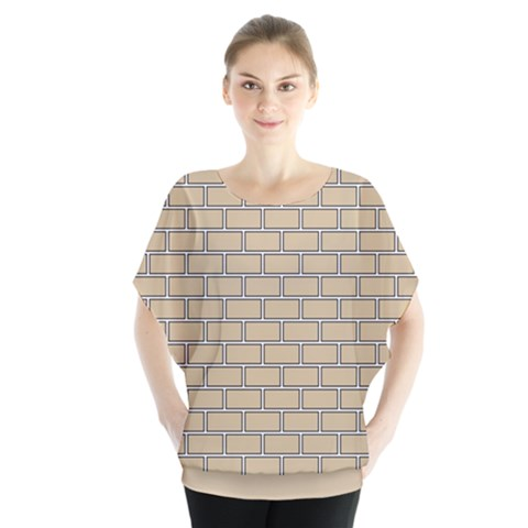 Brick Wall  Batwing Chiffon Blouse by TimelessFashion