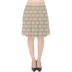 Brick Wall  Velvet High Waist Skirt by TimelessFashion