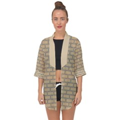 Brick Wall  Open Front Chiffon Kimono by TimelessFashion
