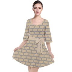 Brick Wall  Velour Kimono Dress by TimelessFashion