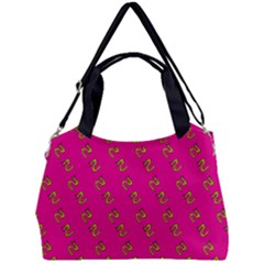 No Step On Snek Pattern Pink Background Meme Double Compartment Shoulder Bag