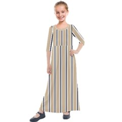 Classic Stripes  Kids  Quarter Sleeve Maxi Dress by TimelessFashion