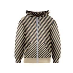 Diagonal Stripes  Kids  Zipper Hoodie by TimelessFashion