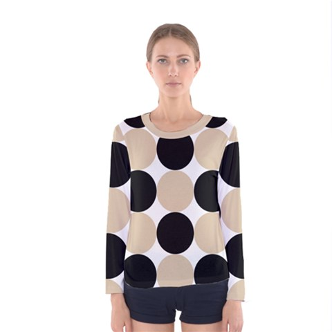 Dots Effect  Women s Long Sleeve Tee by TimelessFashion